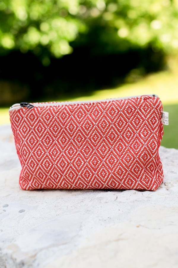 Pochette (Coton) Diamant Rouge | Orange