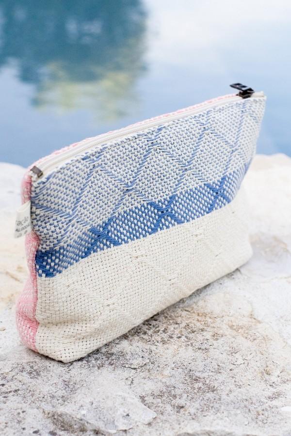 Bolsa de Algodão Azulejo Azul Ganga | Rosa