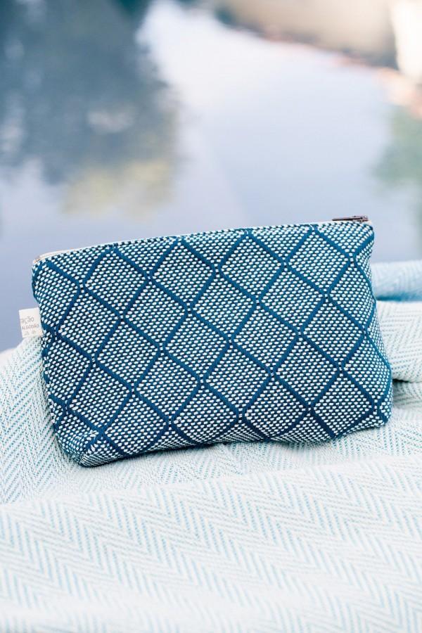 Bolsa de Algodão Azulejo Azul Escuro