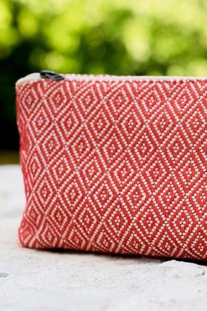 Bolsa de Algodão Diamante Vermelho | Laranja
