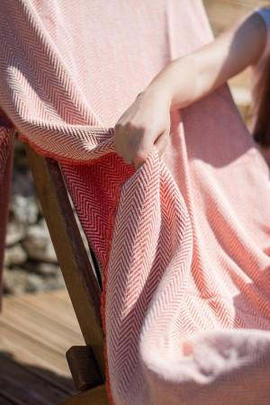 Toalha de Praia Biface Espinho Vermelho | Laranja