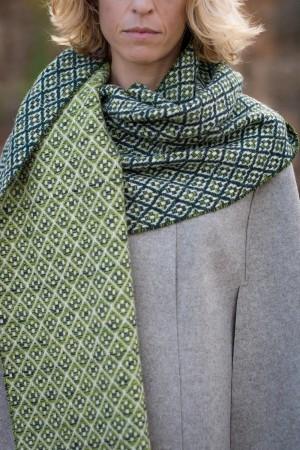 Cachecol Flor BI Verde Escuro | Pistachio