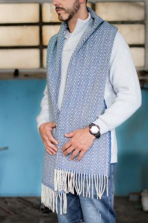 Cachecol Espinho Azul Ganga