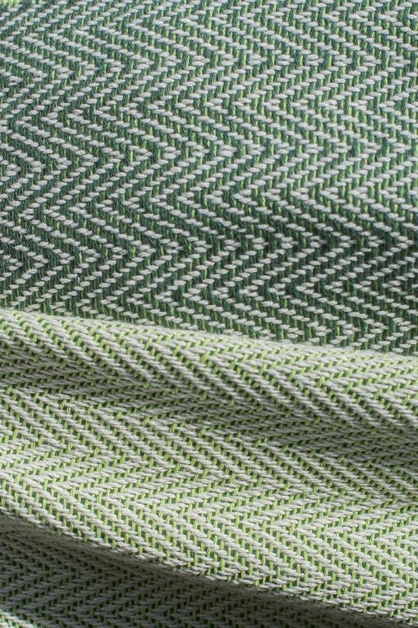 Écharpe Algodão Espinho Verde Seco | Alface
