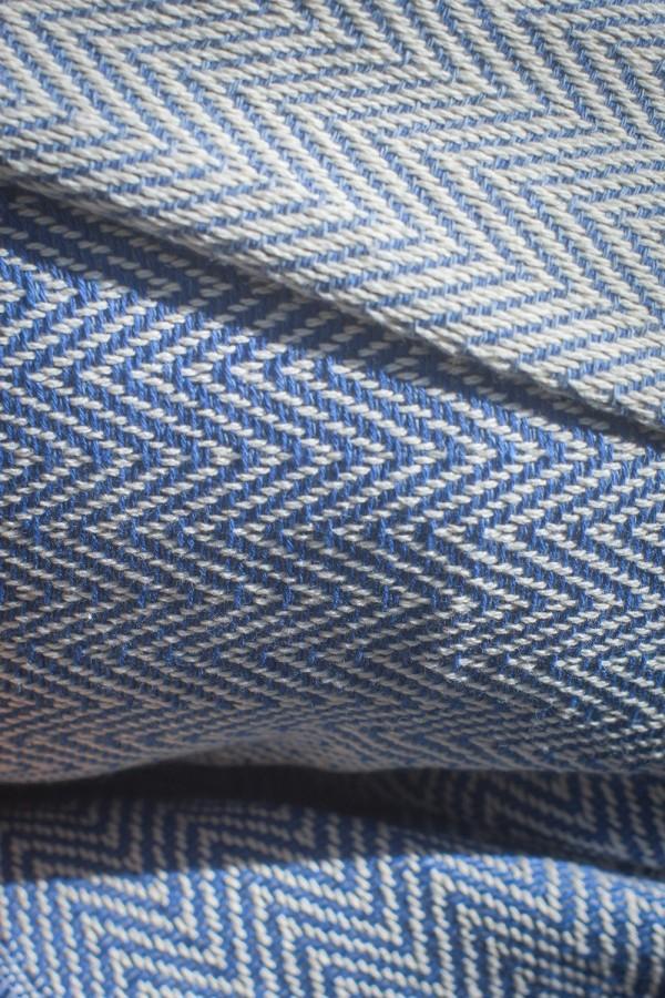 Écharpe Algodão Espinho Azul Claro | Médio